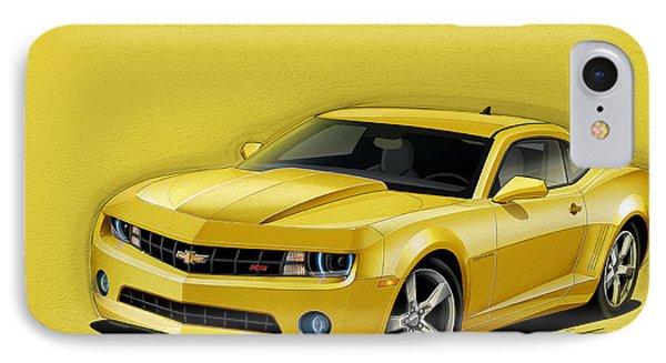 Yellow Camaro IPhone Case by Etienne Carignan