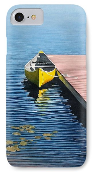 Yellow Canoe IPhone Case by Kenneth M  Kirsch