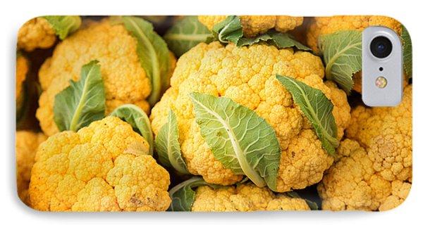 Yellow Cauliflower IPhone Case by Rebecca Cozart
