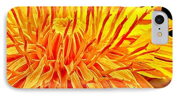 Yellow Chrysanthemum Painting Phone Case by Bob and Nadine Johnston