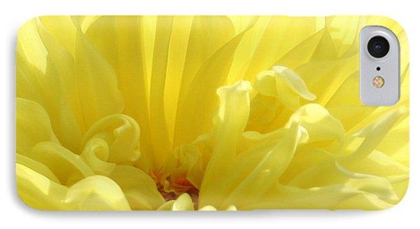 Yellow Dahlia Burst Phone Case by Ben and Raisa Gertsberg