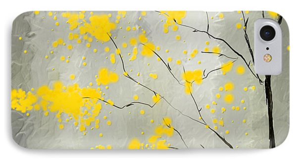 Yellow Foliage Impressionist IPhone Case by Lourry Legarde