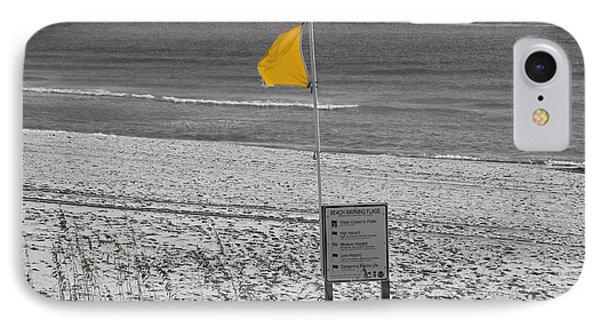 Yellow Hazard Phone Case by Susan Leggett