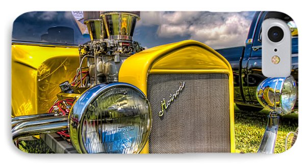 Yellow Hotrod IPhone Case by Tim Stanley