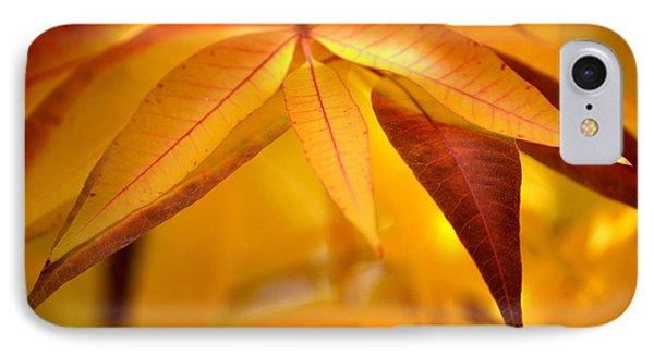 Yellow Leaves At Dawn Phone Case by Deb Halloran