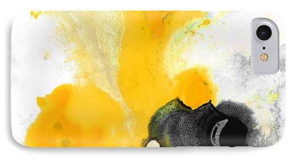 Yellow Orange Abstract Art - The Dreamer - By Sharon Cummings IPhone Case by Sharon Cummings