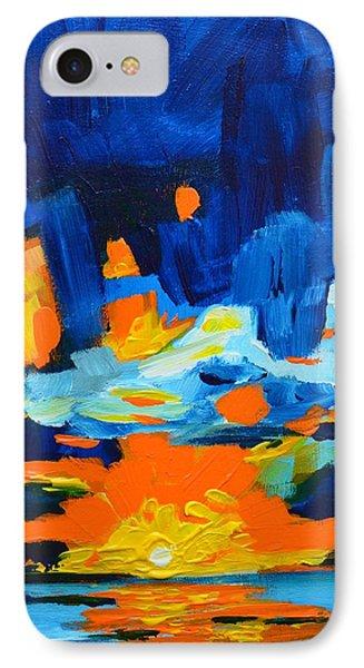 Yellow Orange Blue Sunset Landscape Phone Case by Patricia Awapara