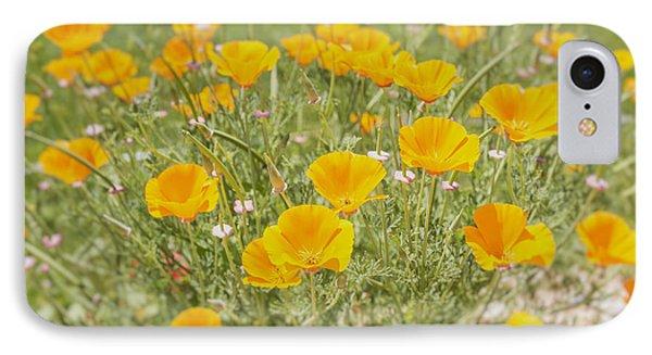 Yellow Poppy Field IPhone Case by Georgia Fowler