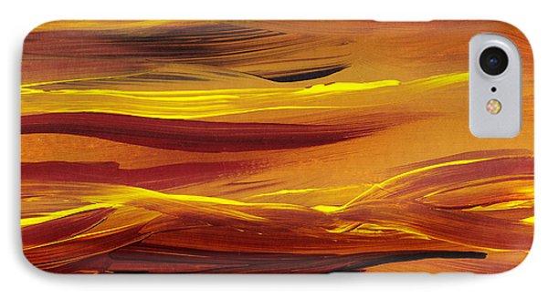 Yellow River Flow Abstract IPhone Case by Irina Sztukowski