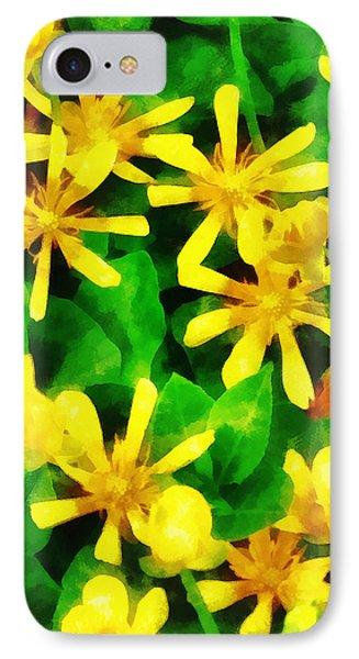 Yellow Wildflowers Phone Case by Susan Savad