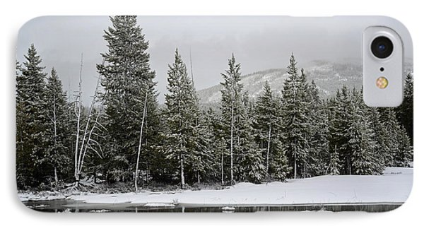 Yellowstone Gibbon Meadows Spring Snow And Reflection Phone Case by Bruce Gourley