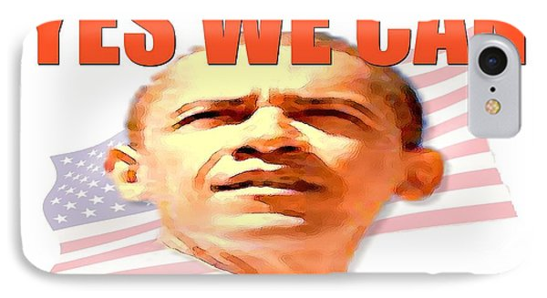 Yes We Can - Barack Obama Poster Art IPhone Case by Art America Online Gallery