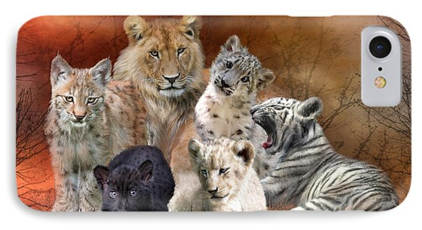 Young And Wild IPhone 7 Case by Carol Cavalaris