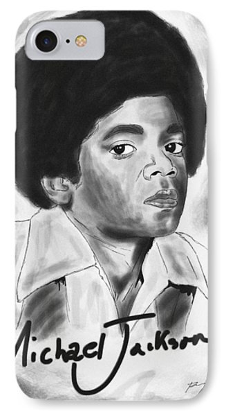 Young Michael Jackson IPhone Case by Pierre Louis