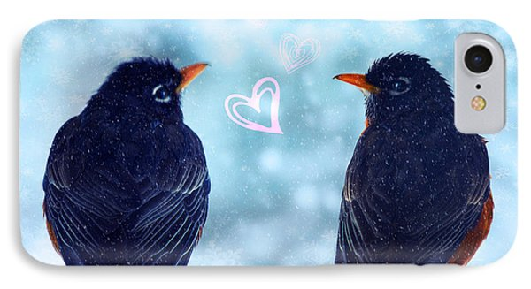 Young Robins In Love Phone Case by Lisa Knechtel