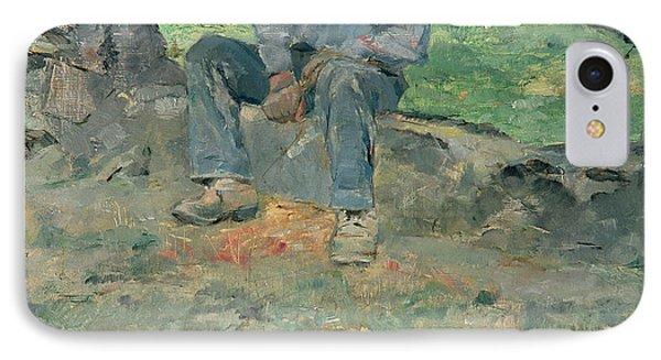 Young Routy At Celeyran Phone Case by Henri de Toulouse-Lautrec