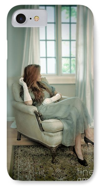 Young Woman In A Chair Phone Case by Jill Battaglia