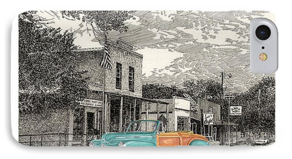 1946 Ford Sports Man Convertible  In Hillsboro N M  IPhone Case by Jack Pumphrey