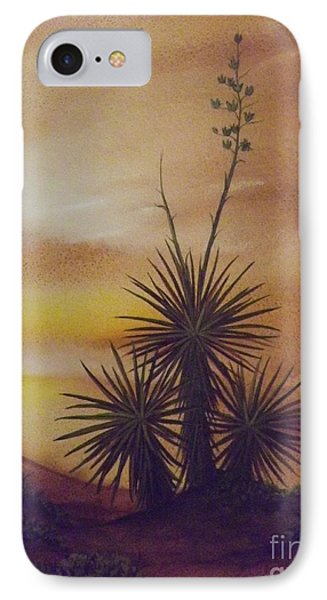 Yuccas At Sunset IPhone Case by Lorita Montgomery