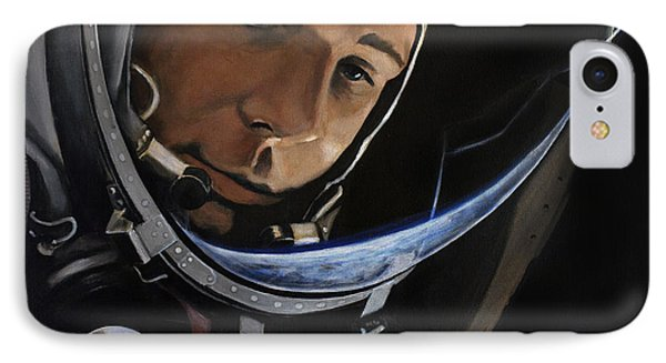 Yuri Alekseyevich Gagarin IPhone Case by Simon Kregar
