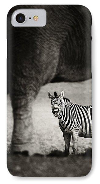 Zebra Barking Phone Case by Johan Swanepoel
