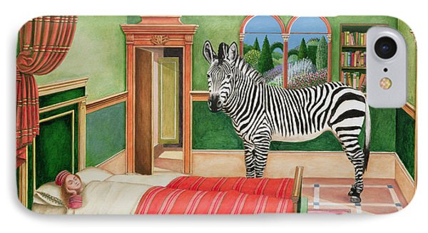 Zebra In A Bedroom, 1996 IPhone Case by Anthony Southcombe