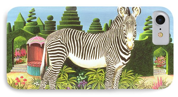 Zebra In A Garden IPhone 7 Case by Anthony Southcombe