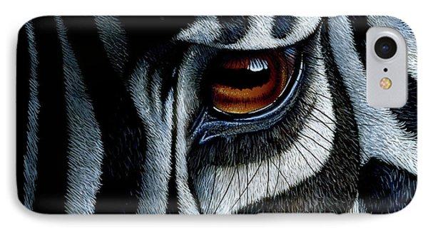 Zebra IPhone 7 Case by Jurek Zamoyski
