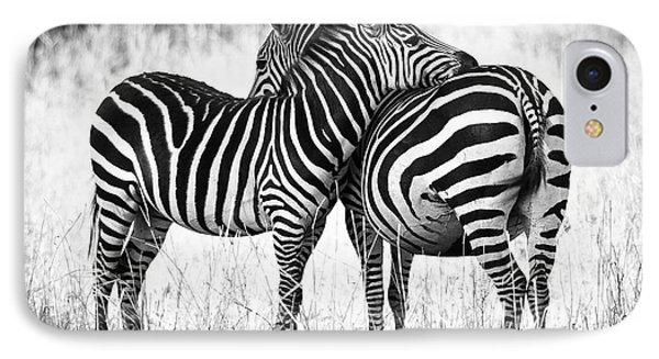 Zebra Love IPhone Case by Adam Romanowicz