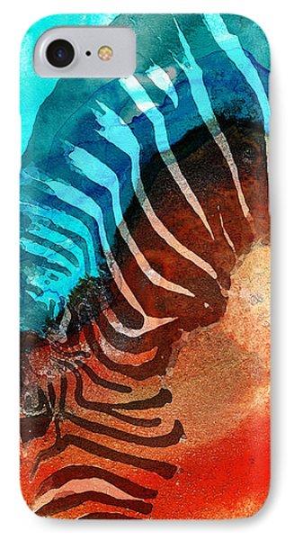 Zebra Love - Art By Sharon Cummings IPhone 7 Case by Sharon Cummings