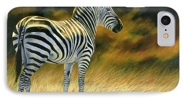 Zebra IPhone 7 Case by Lucie Bilodeau