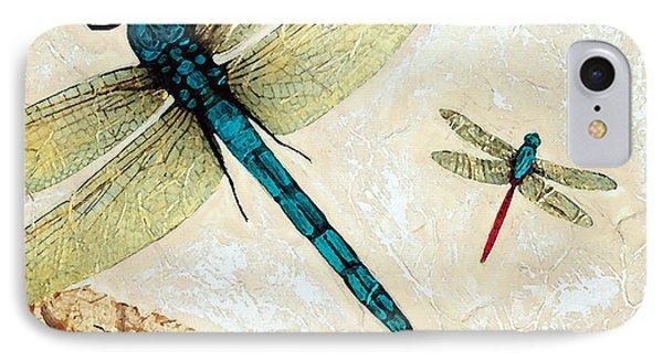 Zen Flight - Dragonfly Art By Sharon Cummings IPhone Case by Sharon Cummings