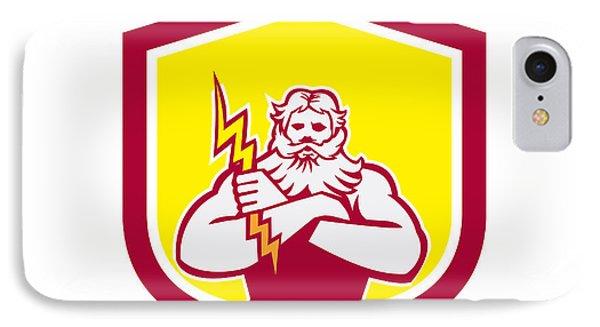 Zeus Greek God Arms Cross Thunderbollt Retro Phone Case by Aloysius Patrimonio