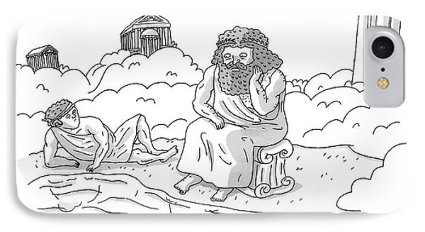 Zeus Speaks Gloomily To Hermes By A Pond IPhone Case by Zachary Kanin