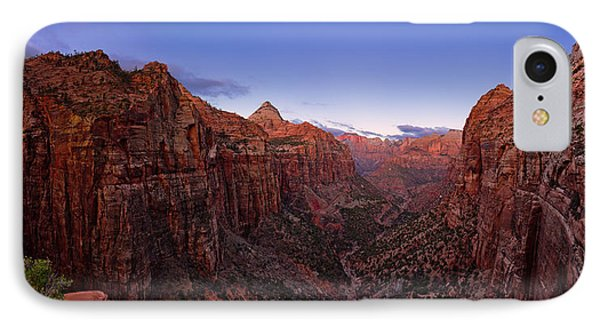 Zion's Twilight IPhone Case by Chad Dutson