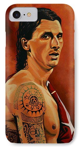 Zlatan Ibrahimovic Painting IPhone Case by Paul Meijering