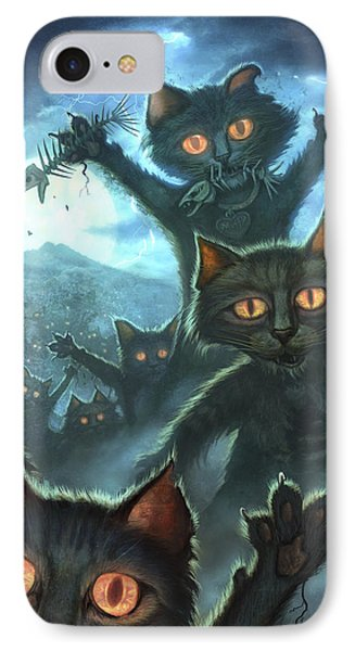 Zombie Cats IPhone Case by Jeff Haynie