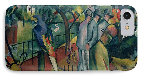 Zoological Garden I, 1912 Oil On Canvas IPhone 7 Case by August Macke