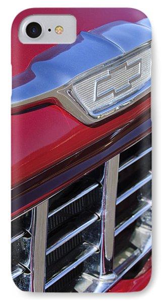 1955 Chevrolet Pickup Truck Grille Emblem Phone Case by Jill Reger