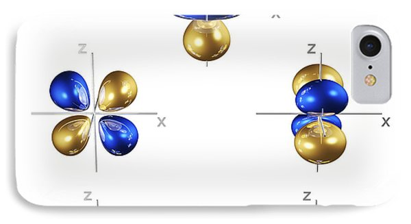 3d Electron Orbitals Phone Case by Dr Mark J. Winter