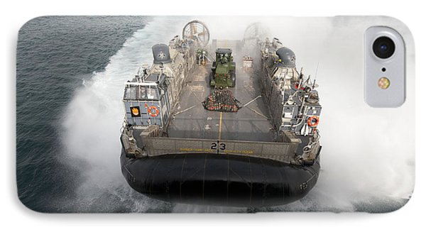 A Landing Craft Air Cushion Enters Phone Case by Stocktrek Images