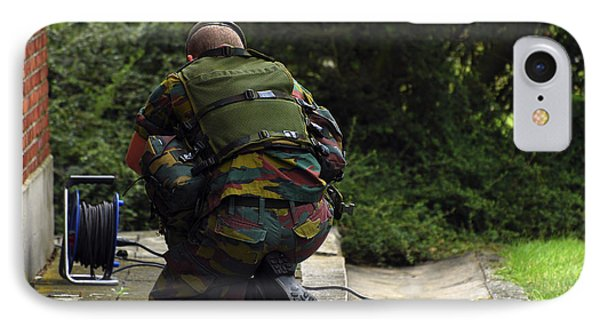 A Soldier Of The Belgian Army Phone Case by Luc De Jaeger