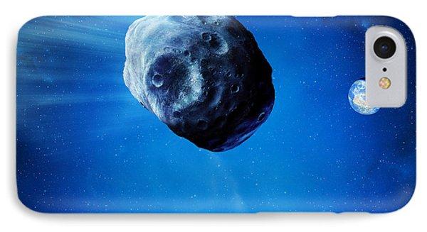 Asteroid Approaching Earth Phone Case by Detlev Van Ravenswaay