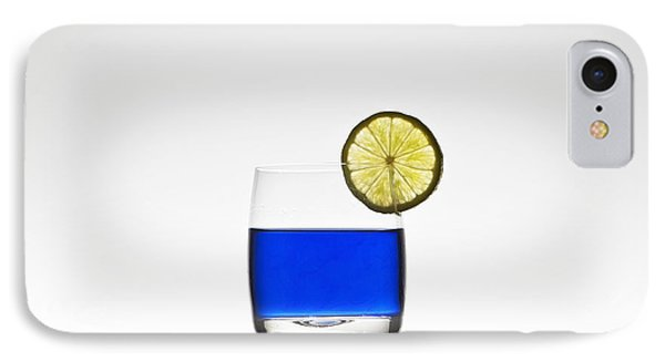 Blue Cocktail With Lemon IPhone 7 Case by Joana Kruse
