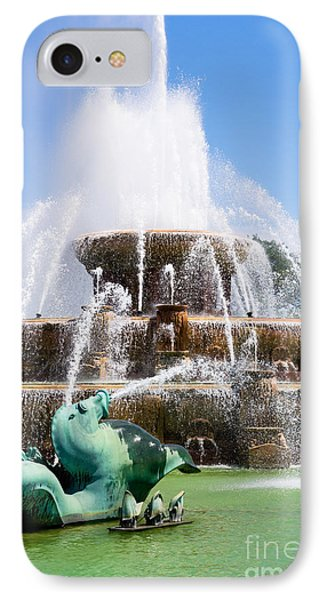 Buckingham Fountain In Chicago Phone Case by Paul Velgos