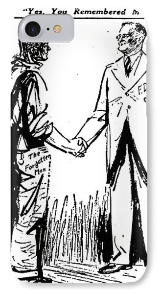 Cartoon: Fdr & Workingmen Phone Case by Granger