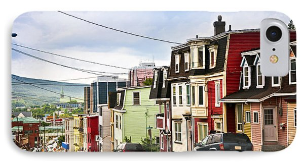 Colorful Houses In Newfoundland Phone Case by Elena Elisseeva