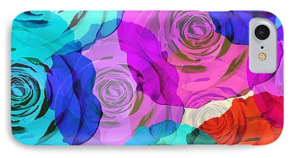 Colorful Roses Design Phone Case by Setsiri Silapasuwanchai