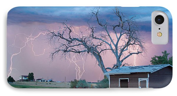 Country Horses Lightning Storm Ne Boulder County Co  76 IPhone Case by James BO  Insogna