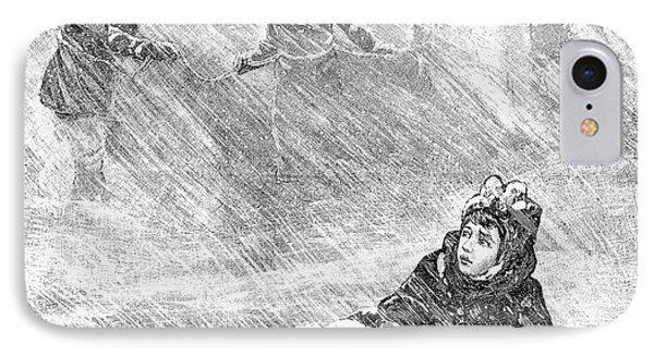 Dakota Blizzard, 1888 IPhone Case by Granger